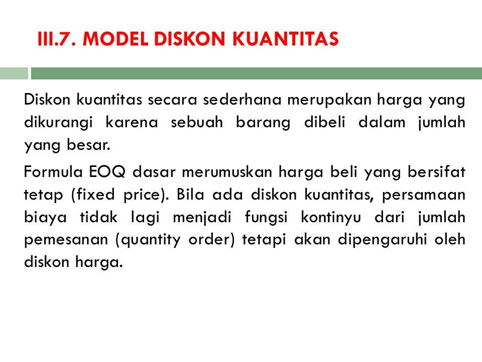 III.7. MODEL DISKON KUANTITAS