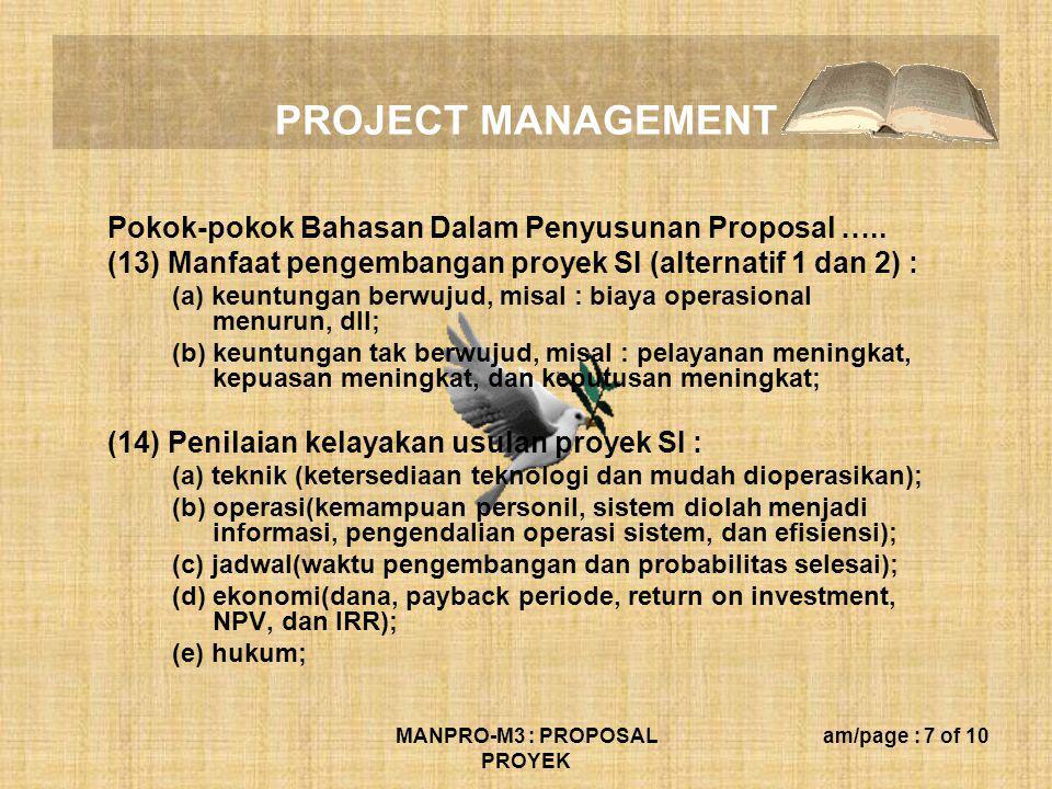 MANPRO-M3 : PROPOSAL PROYEK