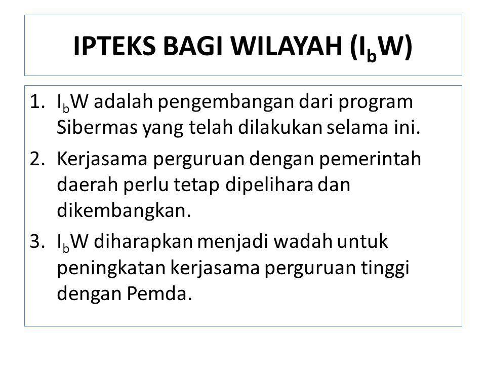 IPTEKS BAGI WILAYAH (IbW)