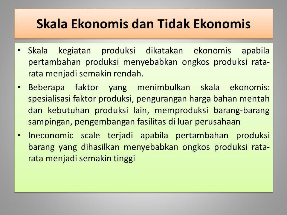 Skala Ekonomis dan Tidak Ekonomis