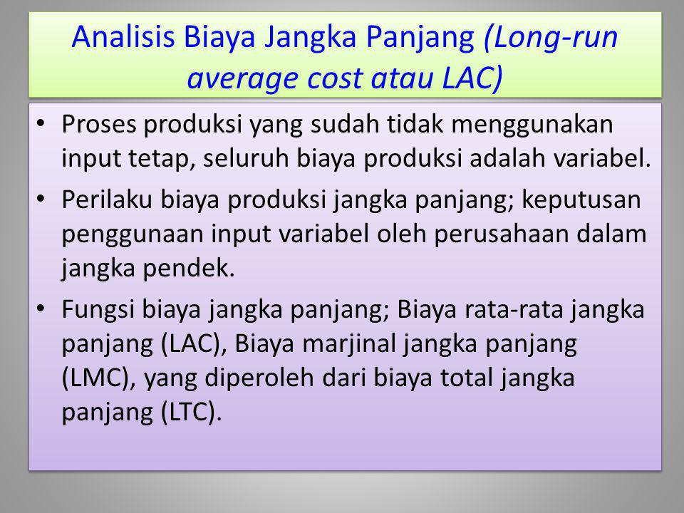 Analisis Biaya Jangka Panjang (Long-run average cost atau LAC)