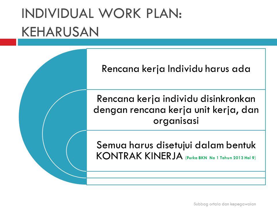 INDIVIDUAL WORK PLAN: KEHARUSAN