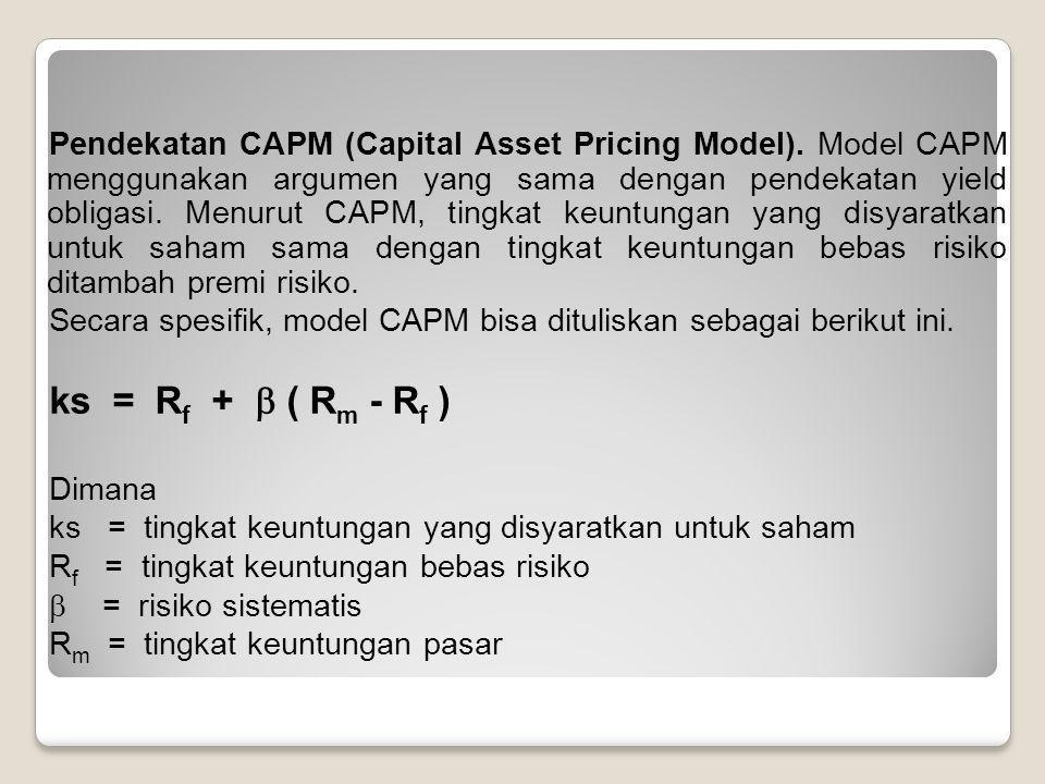 Pendekatan CAPM (Capital Asset Pricing Model)