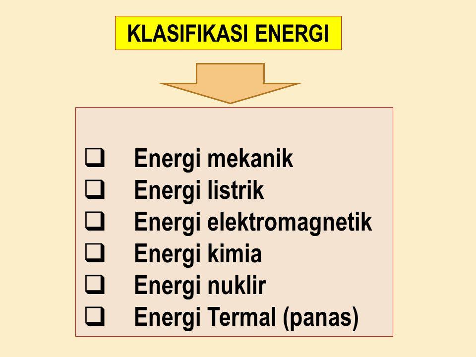 Energi elektromagnetik Energi kimia Energi nuklir