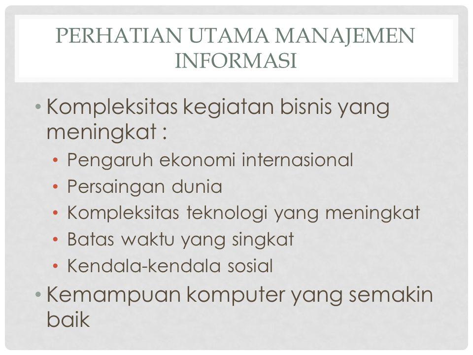 Perhatian Utama Manajemen Informasi