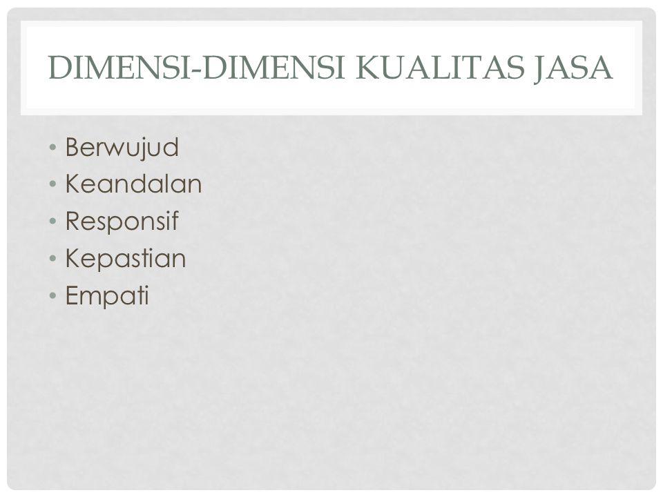 DIMENSI-DIMENSI KUALITAS JASA