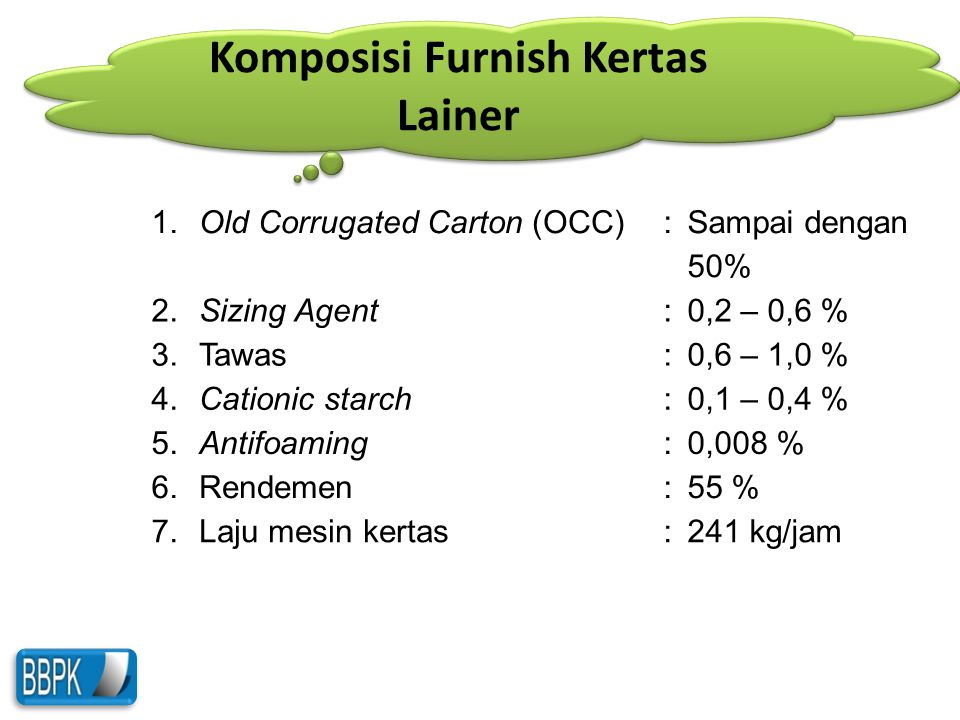 Komposisi Furnish Kertas Lainer