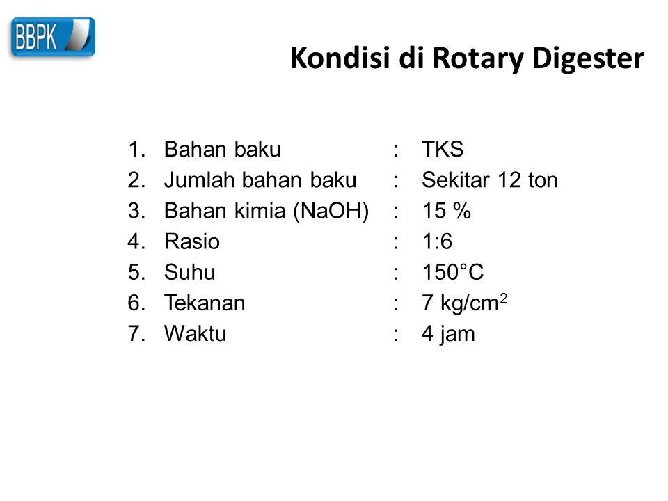Kondisi di Rotary Digester