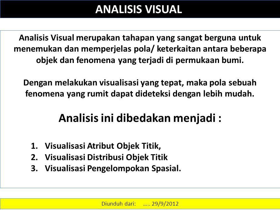 Analisis ini dibedakan menjadi :