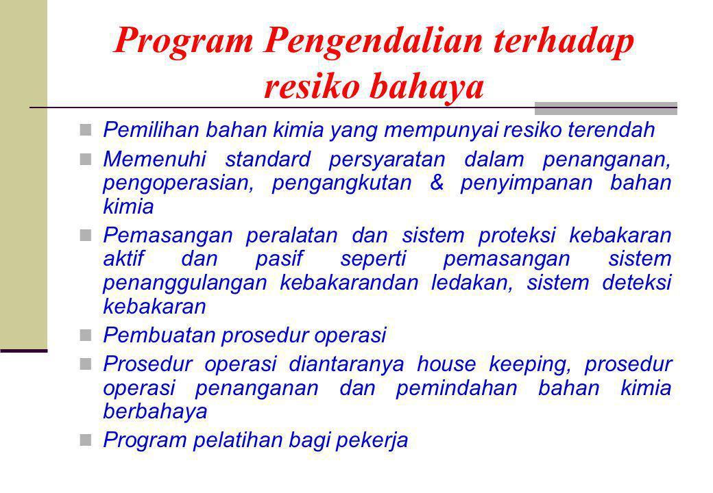 Program Pengendalian terhadap resiko bahaya
