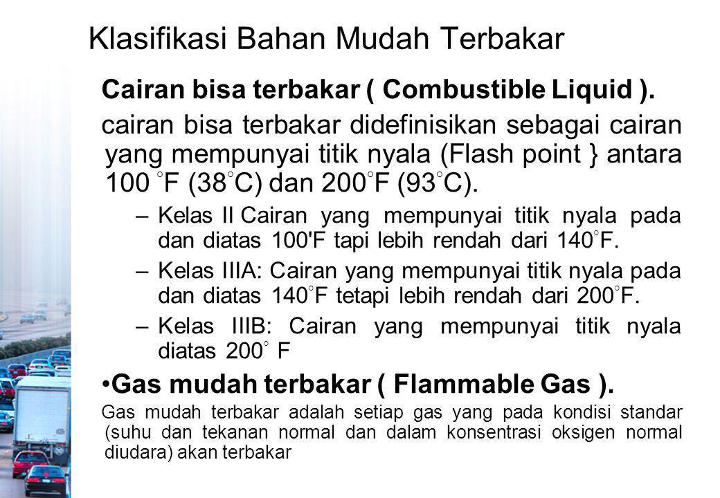 Klasifikasi Bahan Mudah Terbakar