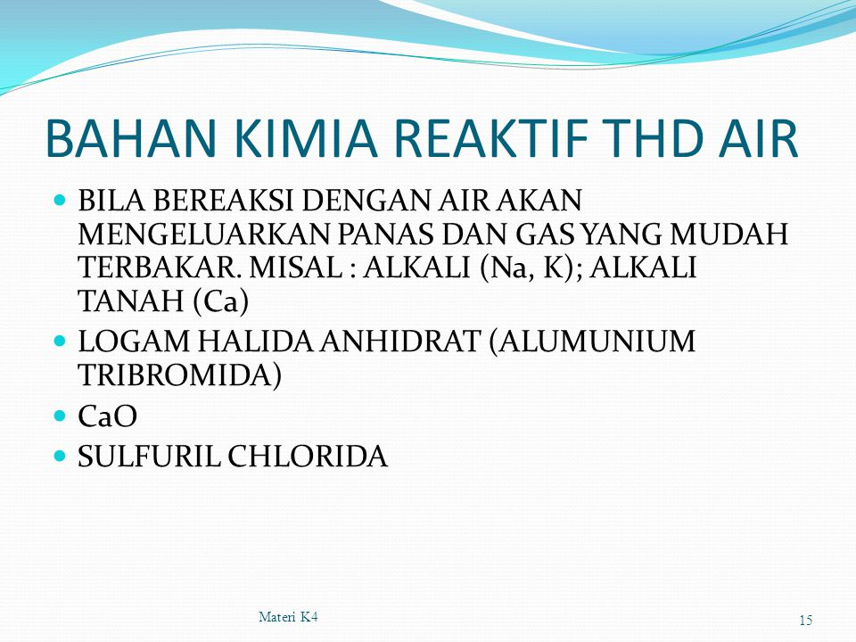 BAHAN KIMIA REAKTIF THD AIR