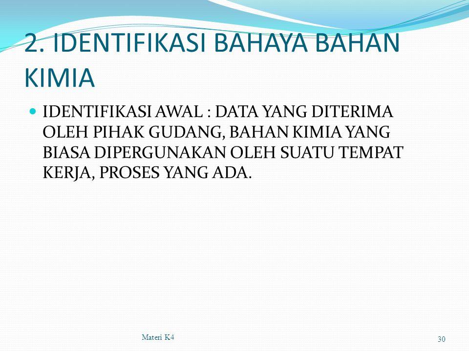2. IDENTIFIKASI BAHAYA BAHAN KIMIA