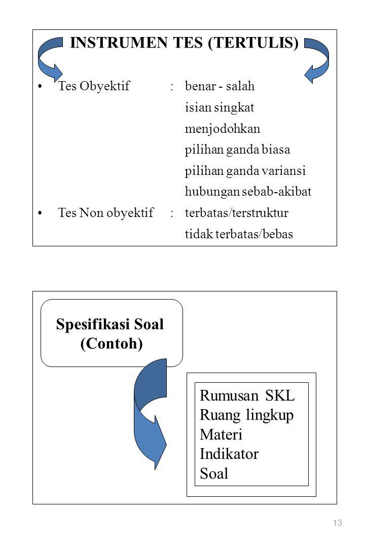 INSTRUMEN TES (TERTULIS)