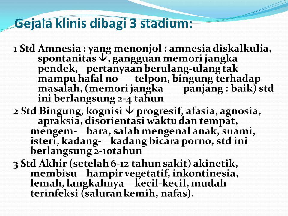 Gejala klinis dibagi 3 stadium: