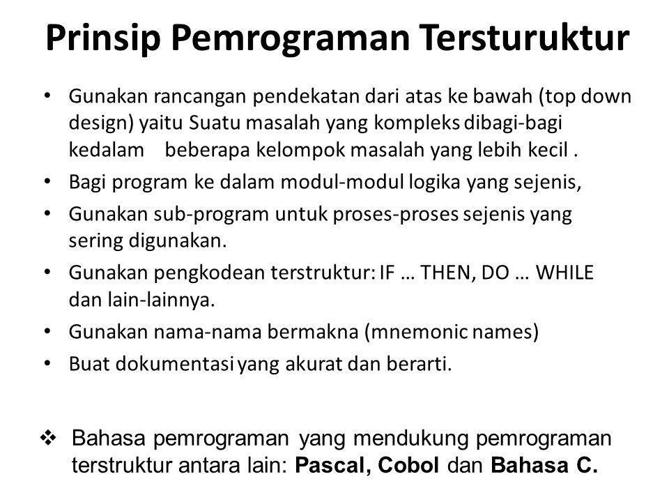 Prinsip Pemrograman Tersturuktur