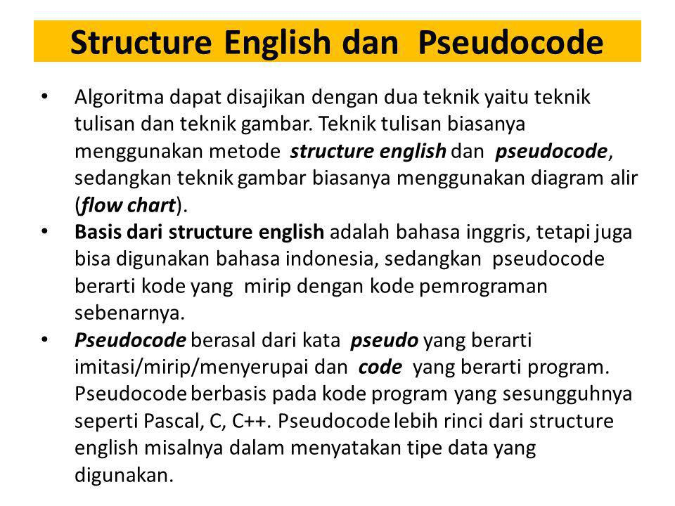 Structure English dan Pseudocode