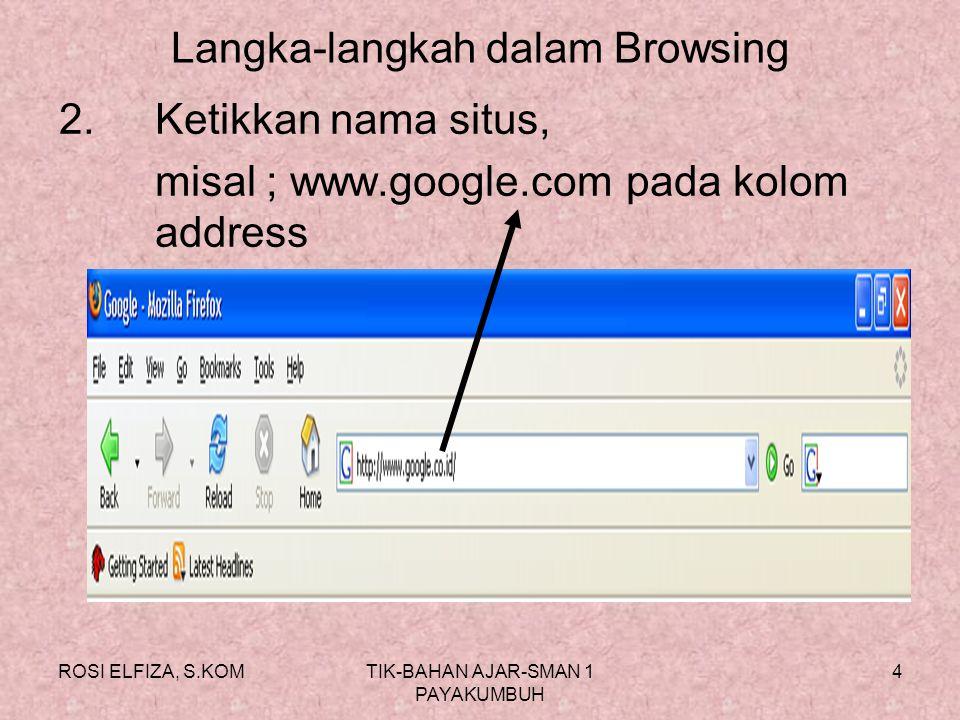 Langka-langkah dalam Browsing
