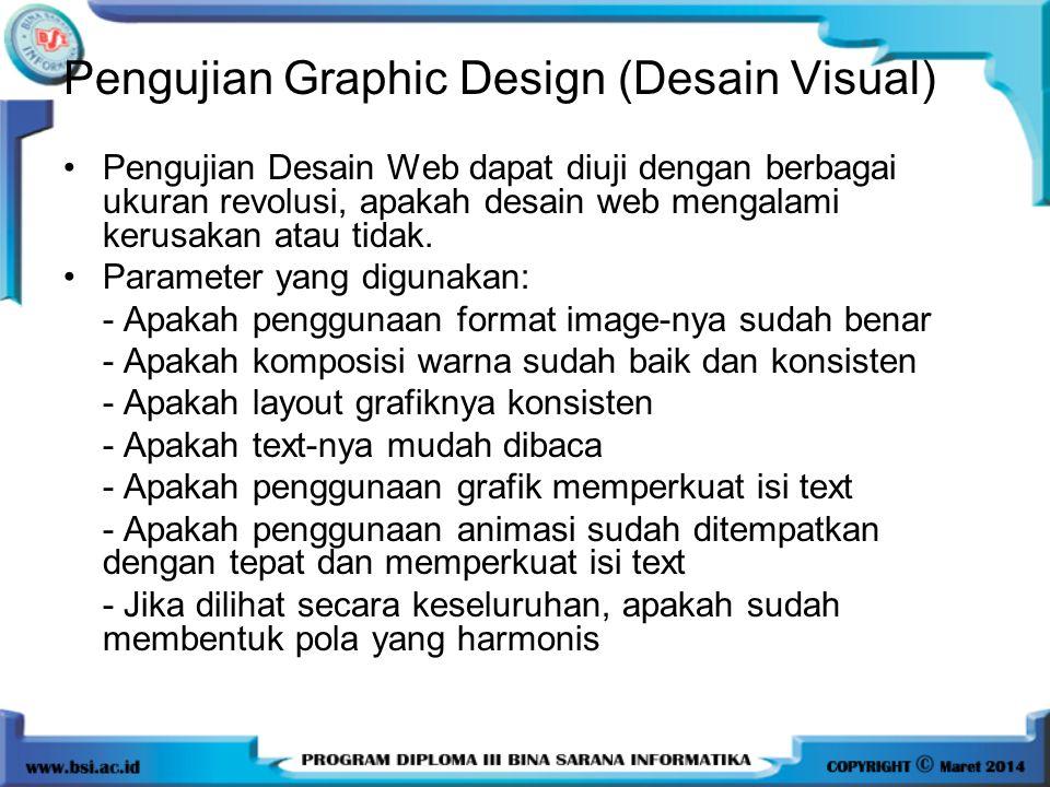 Pengujian Graphic Design (Desain Visual)