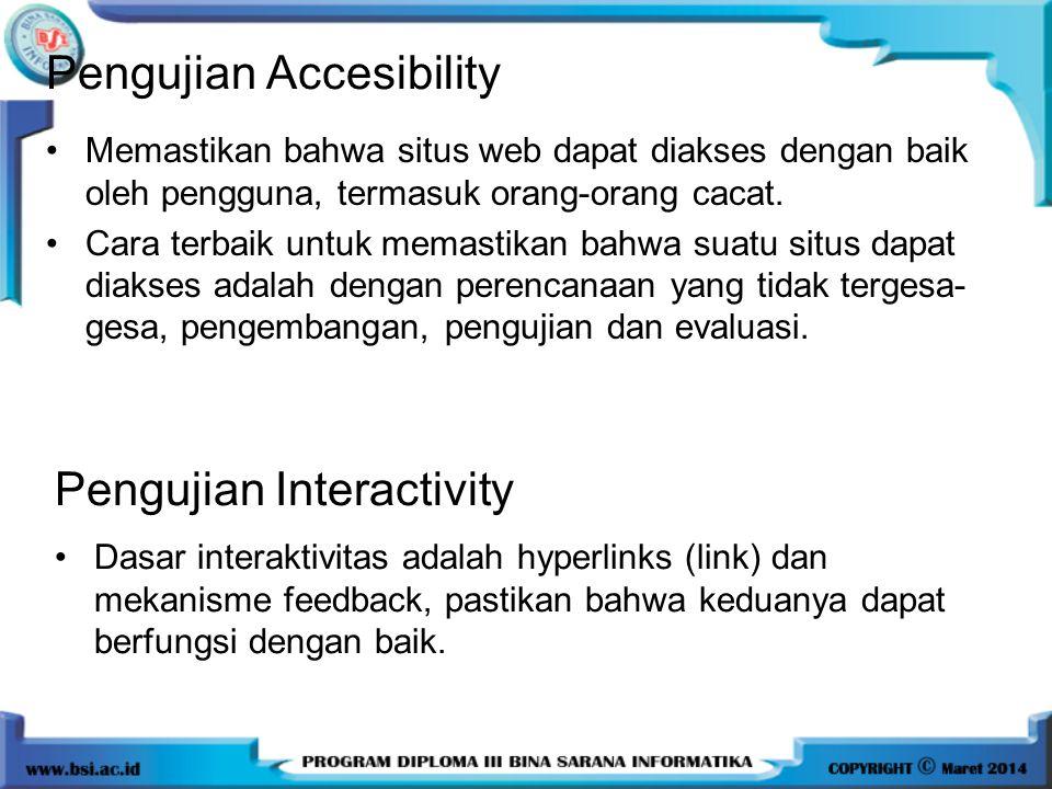 Pengujian Accesibility