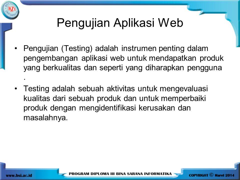 Pengujian Aplikasi Web