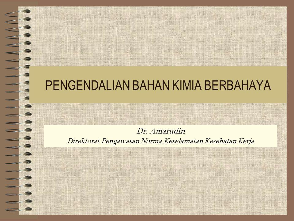 PENGENDALIAN BAHAN KIMIA BERBAHAYA