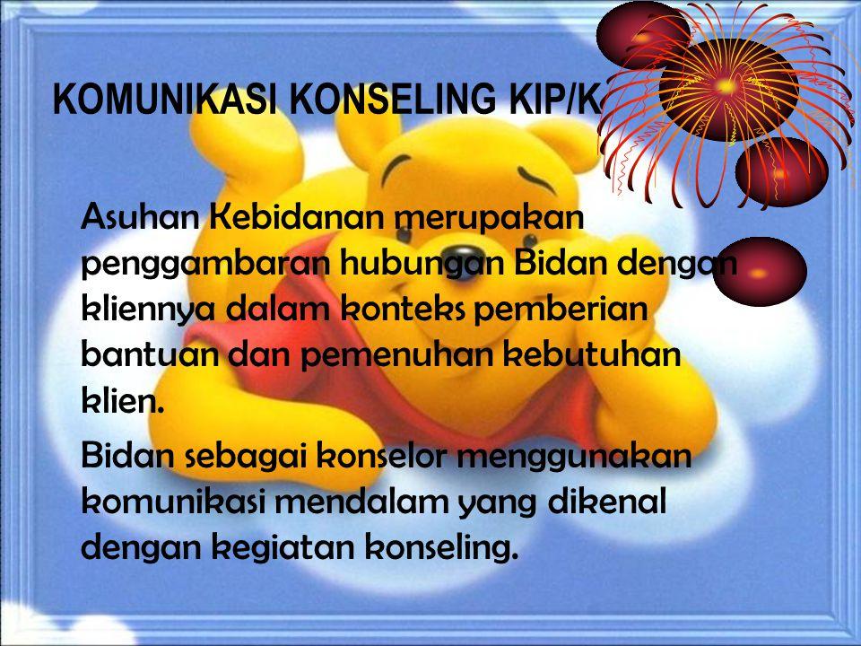 KOMUNIKASI KONSELING KIP/K