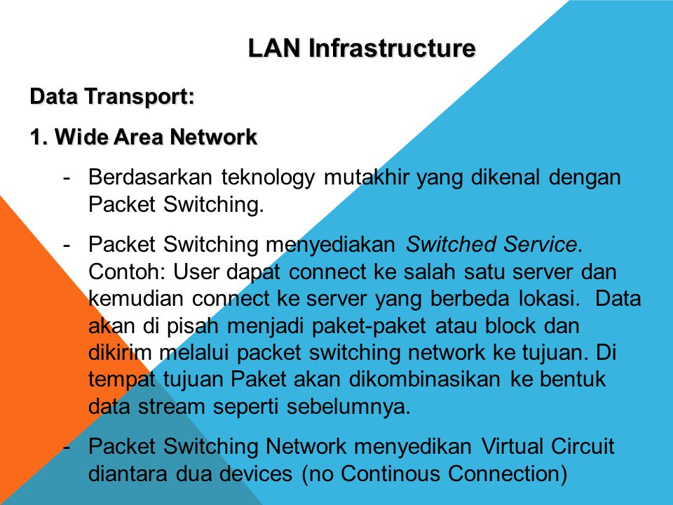 LAN Infrastructure Data Transport: Wide Area Network