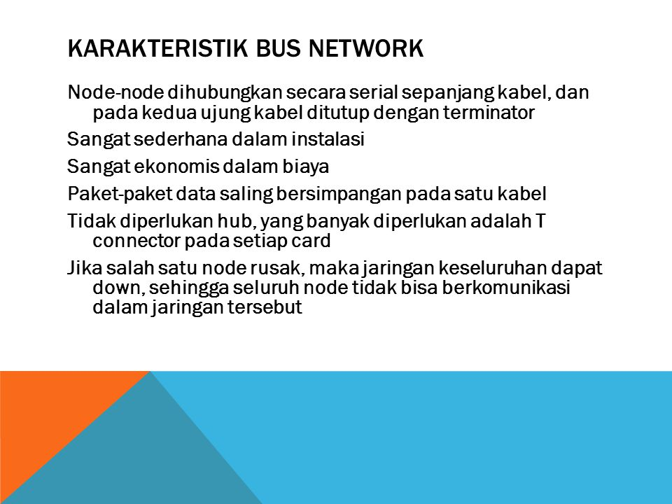 Karakteristik Bus Network