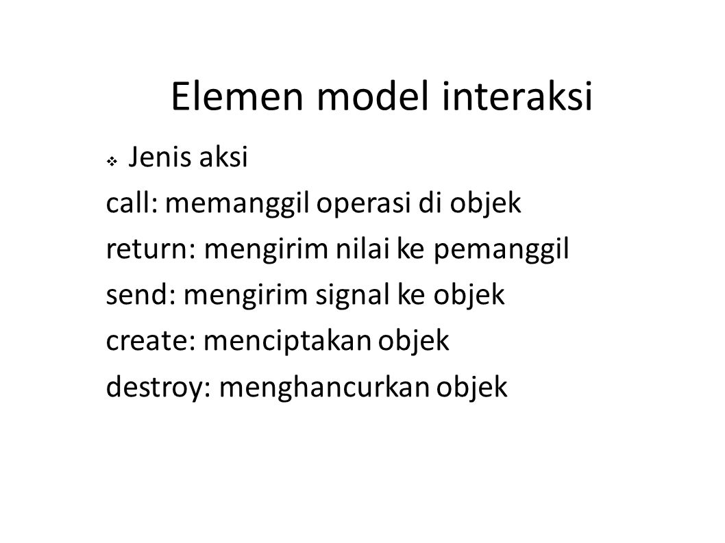 Elemen model interaksi