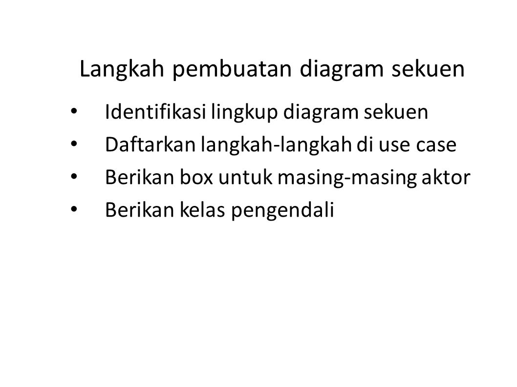 Langkah pembuatan diagram sekuen