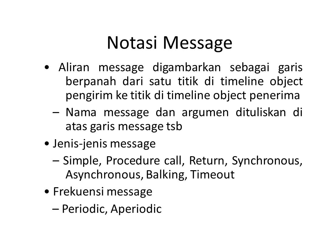 Notasi Message