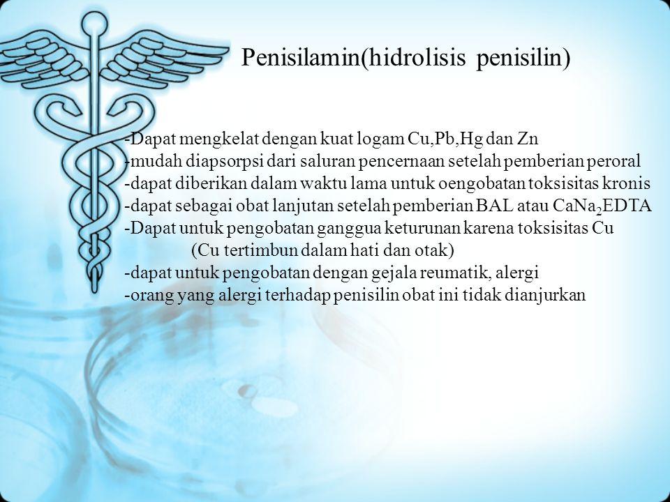 Penisilamin(hidrolisis penisilin)