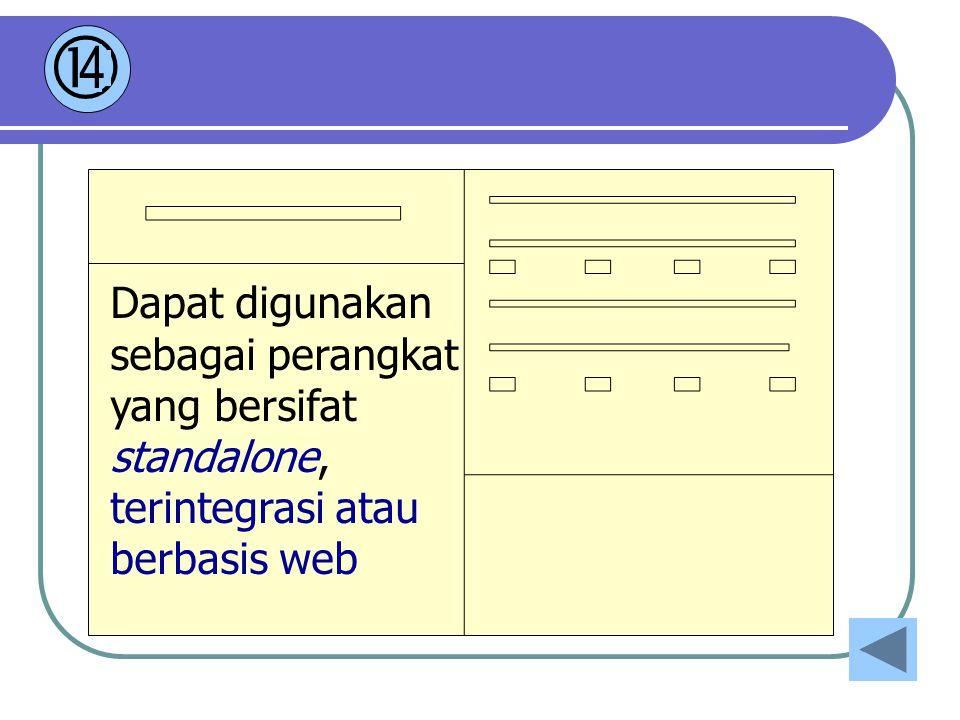  4 Dapat digunakan sebagai perangkat yang bersifat standalone, terintegrasi atau berbasis web