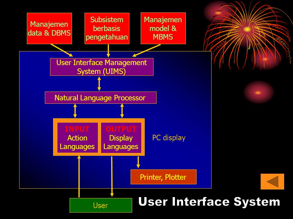 User Interface System Manajemen data & DBMS