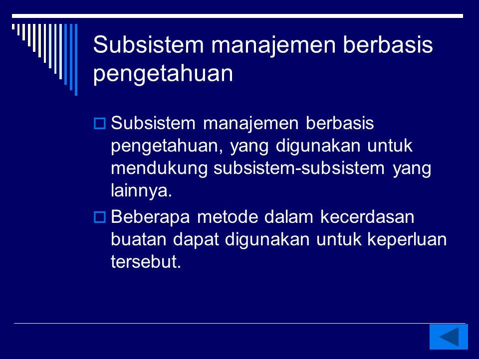 Subsistem manajemen berbasis pengetahuan