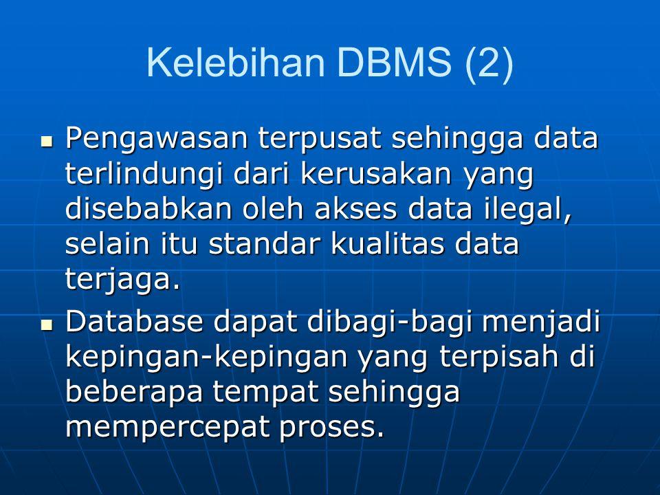 Kelebihan DBMS (2)