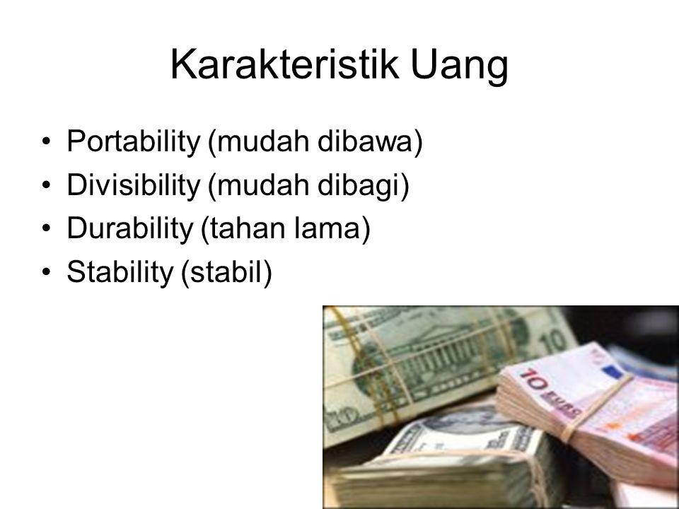 Karakteristik Uang Portability (mudah dibawa)
