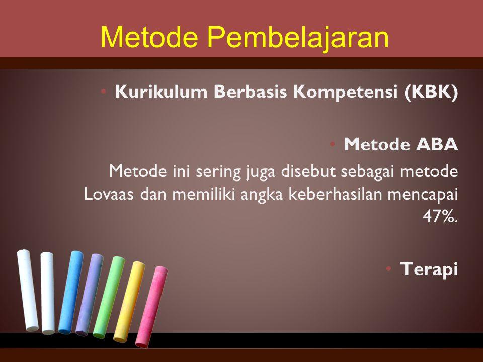 Metode Pembelajaran Kurikulum Berbasis Kompetensi (KBK) Metode ABA