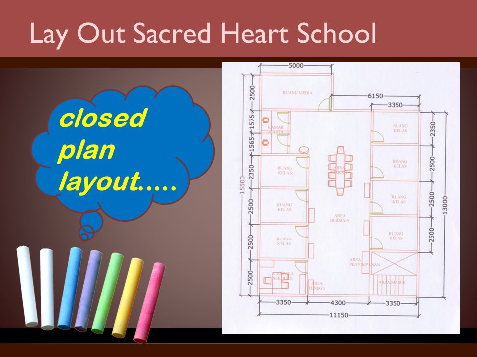 Lay Out Sacred Heart School