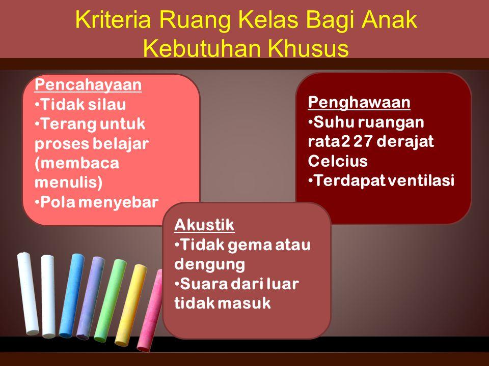 Kriteria Ruang Kelas Bagi Anak Kebutuhan Khusus
