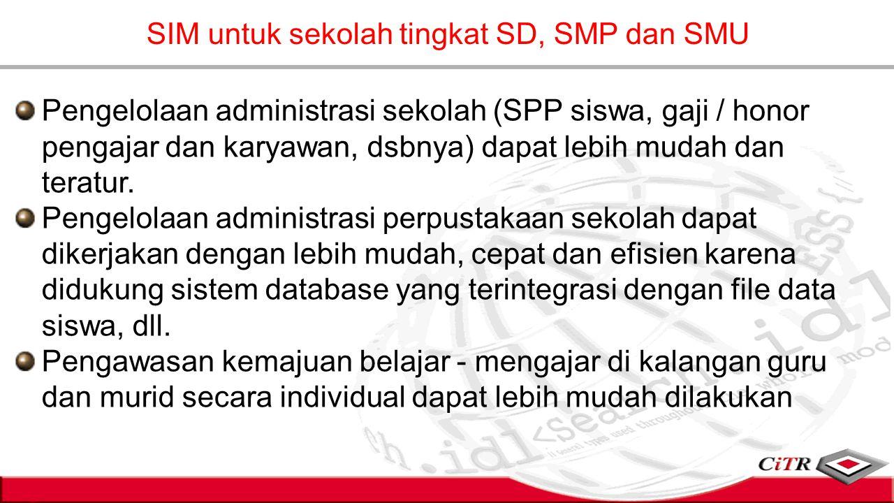 SIM untuk sekolah tingkat SD, SMP dan SMU
