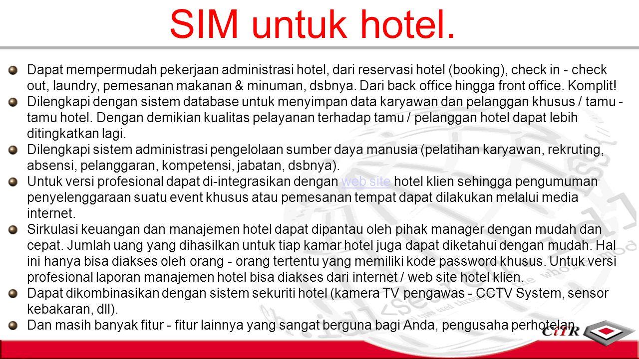 SIM untuk hotel.