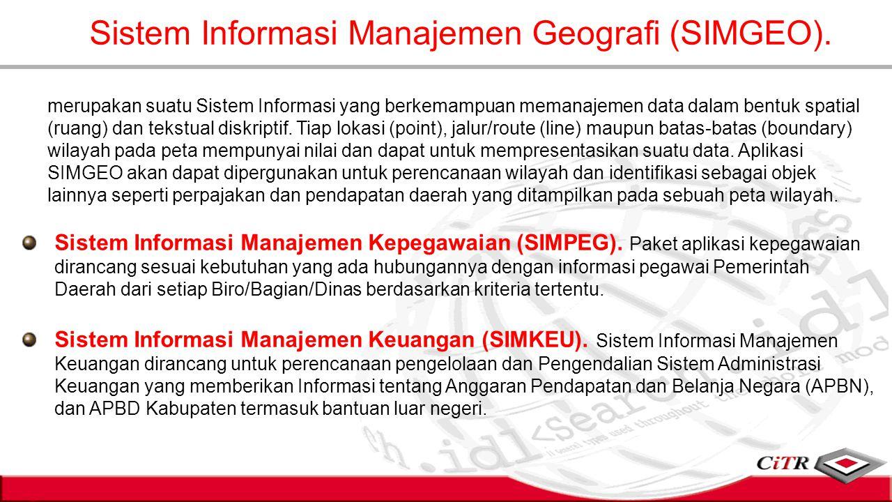 Sistem Informasi Manajemen Geografi (SIMGEO).