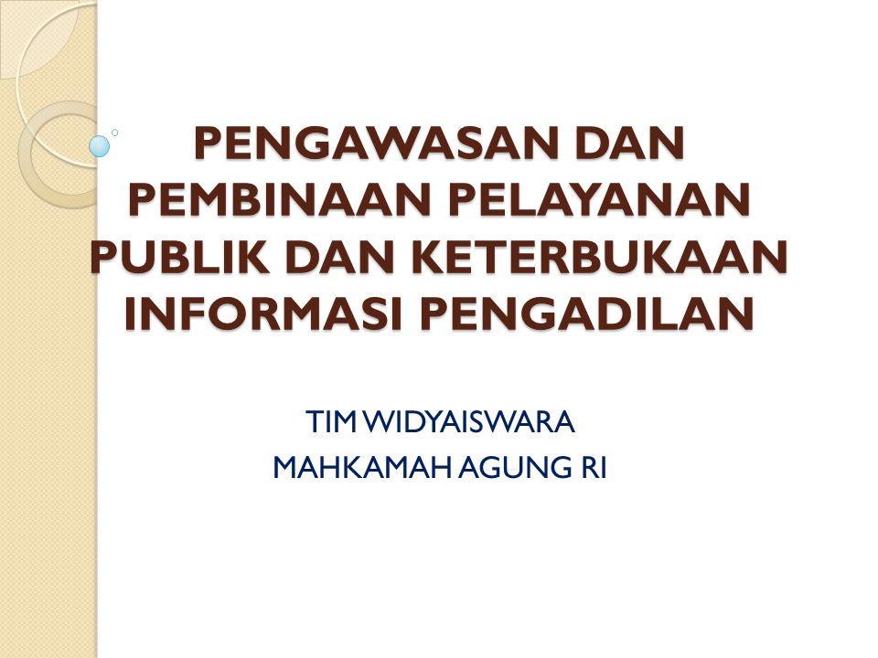 TIM WIDYAISWARA MAHKAMAH AGUNG RI