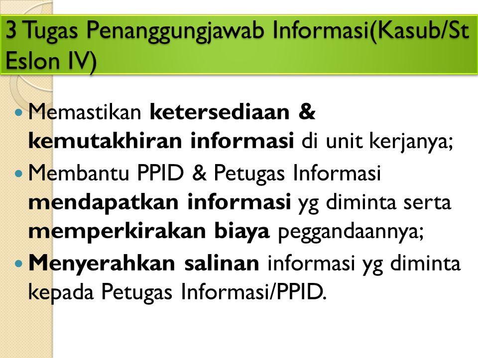 3 Tugas Penanggungjawab Informasi(Kasub/St Eslon IV)