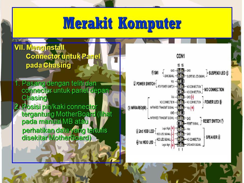 Merakit Komputer VII. Menginstall Connector untuk Panel pada Chasing