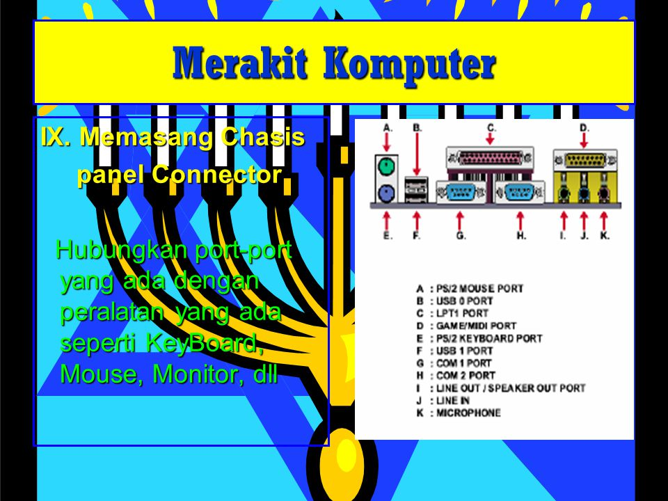 Merakit Komputer IX. Memasang Chasis panel Connector