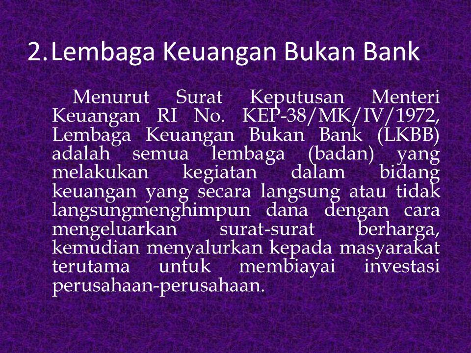 2. Lembaga Keuangan Bukan Bank