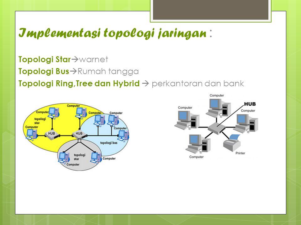 Implementasi topologi jaringan :